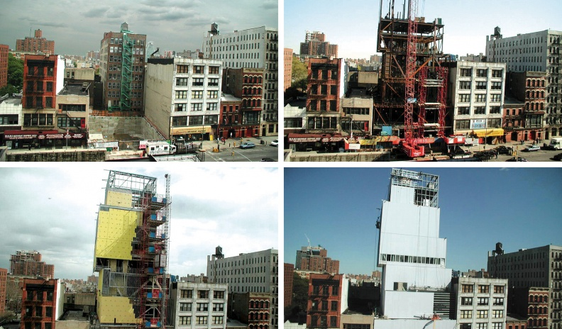 The New Museum at 235 Bowery under construction