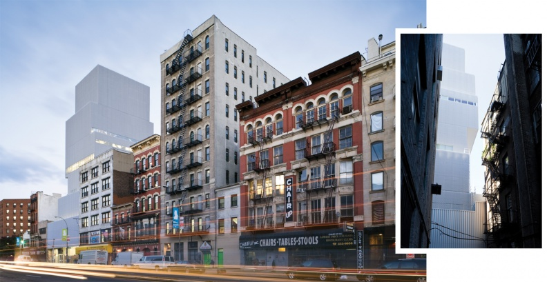 Street Views of the New Museum at 235 Bowery