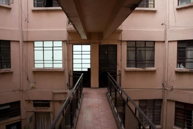 Exterior view of Preteen Gallery, Mexico City, 2011. Photo: Gerardo ...